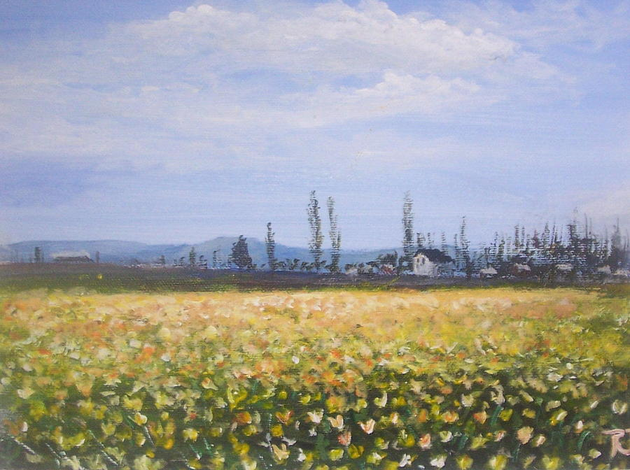 Flowers Painting - Field Of Flowers  by Richard Finnell