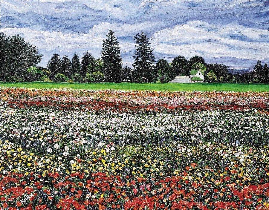 Flowers Painting - Field Of Flowers by Richard Nowak