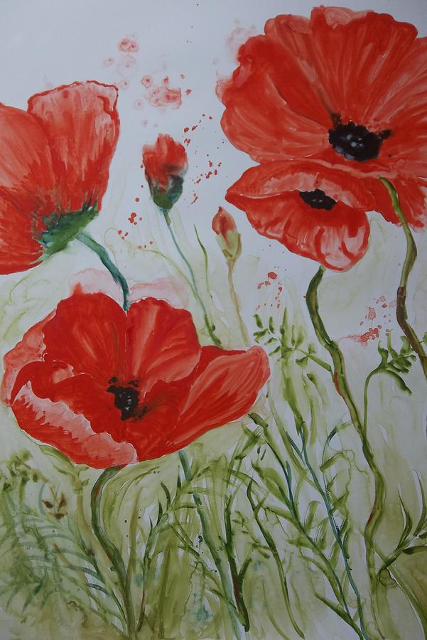 Field of Poppies by Audrey Bunchkowski