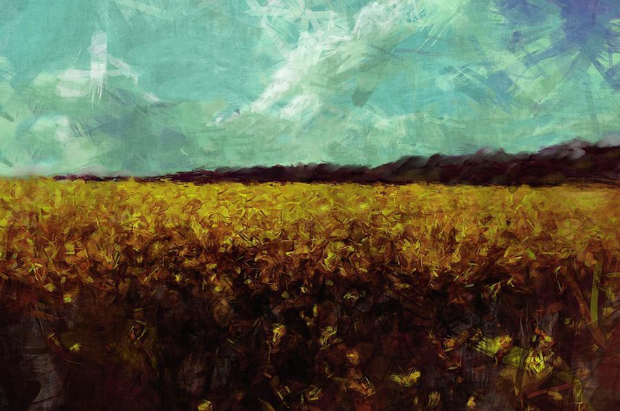 Field Painting - Field Of Yellow by Mark Denham