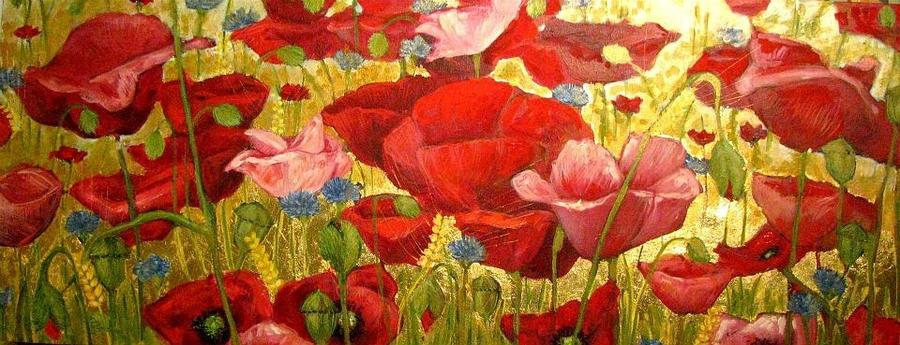 Poppies Painting - Field Poppies by Luciana Toma