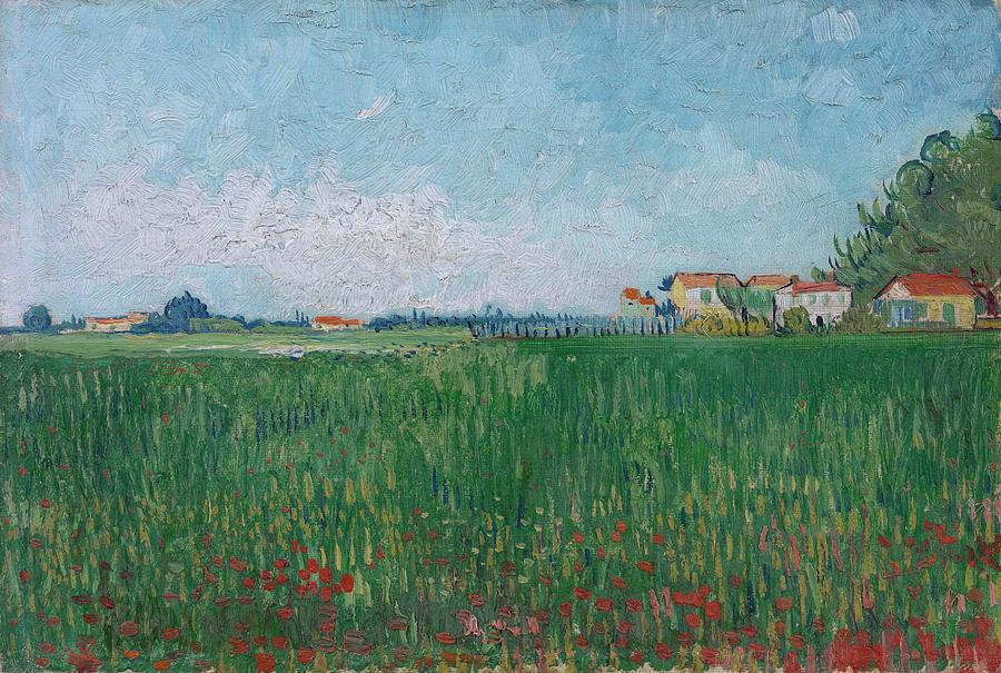 Vincent Van Goghs Field of Poppies Weekender Bag