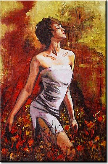 Nude Painting - Field by Yvonne Yu