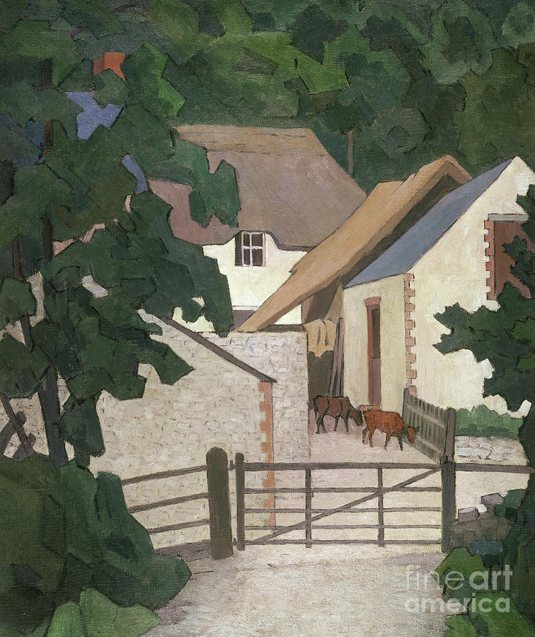 Thatched Painting - Fields Farm, Somerset by Robert Polhill Bevan