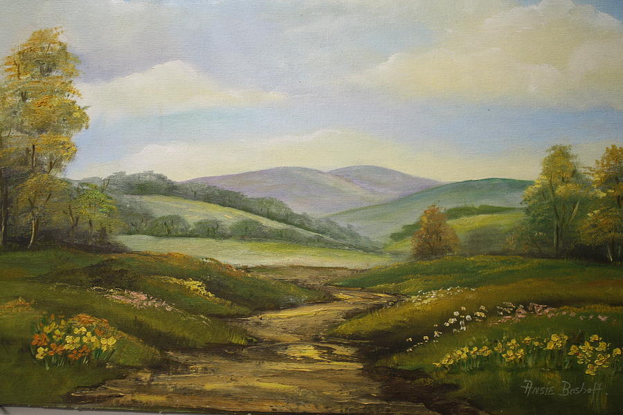 Landscapes Painting - Fields In Summer by Ansie Boshoff
