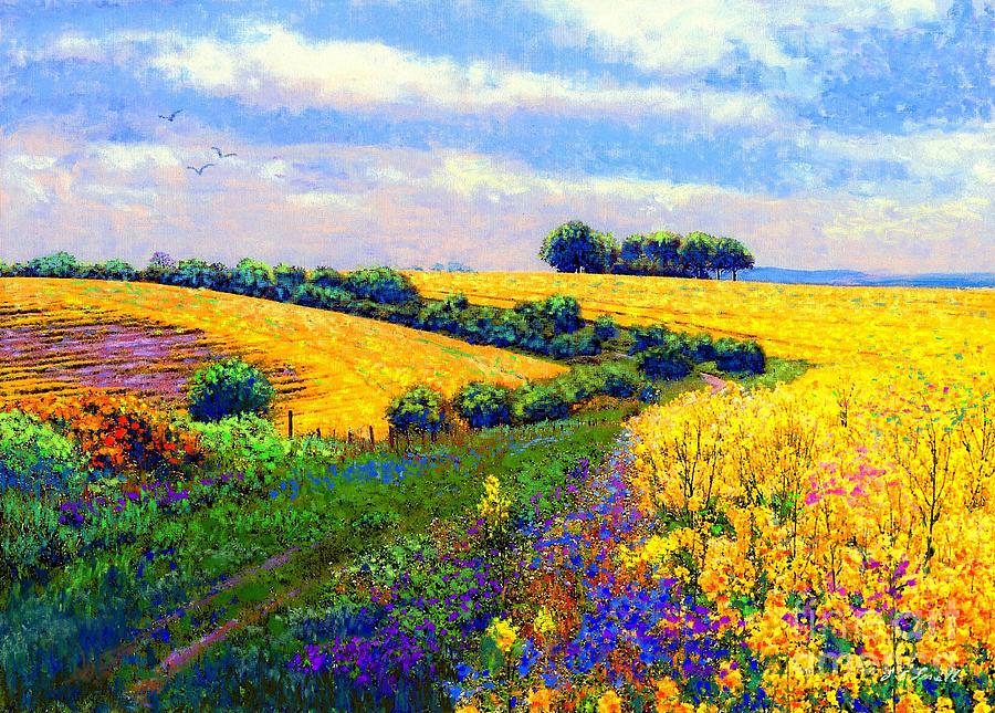 Fields Of Gold Painting By Jane Small
