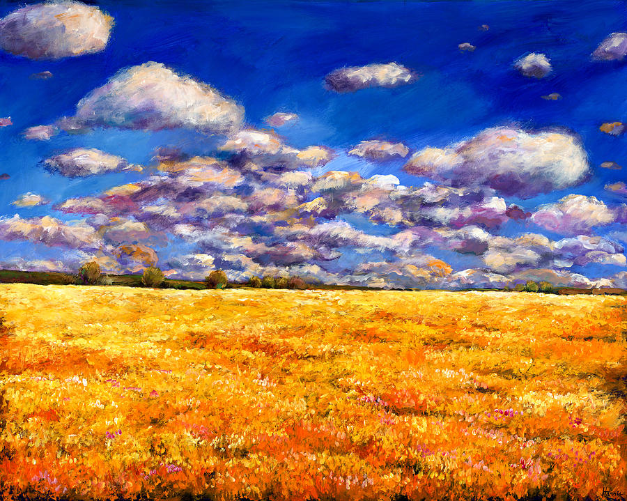 Landscape Painting - Fields Of Gold by Johnathan Harris