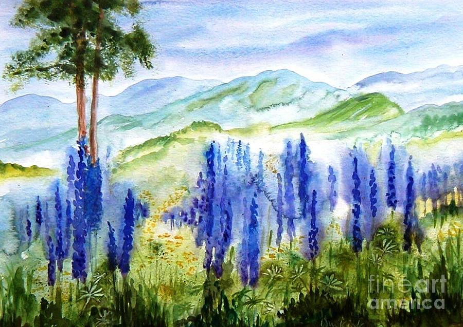 Fields of Lupines by Diane Kirk