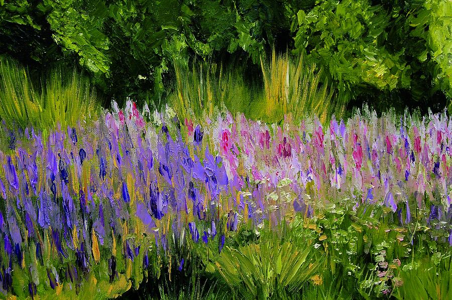 Lisa Painting - Fields Of Purple by Lisa Konkol
