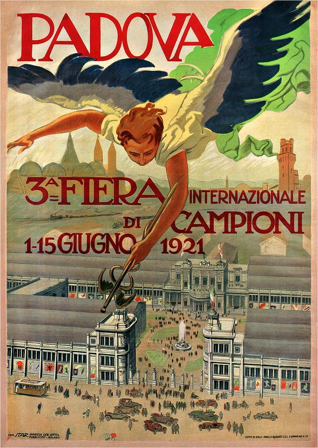 Fiera Internazionale Campioni, Padova, Italy - Retro Travel Poster - Vintage Poster Mixed Media