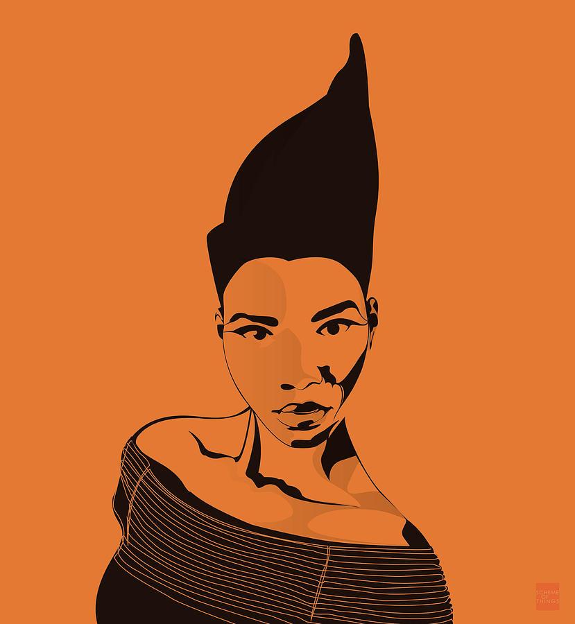 Orange Digital Art - Fierce by Scheme Of Things