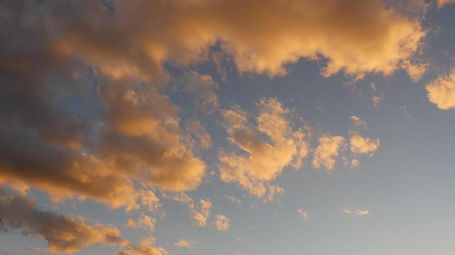 Clouds Photograph - Fiery Clouds by Bill Helman