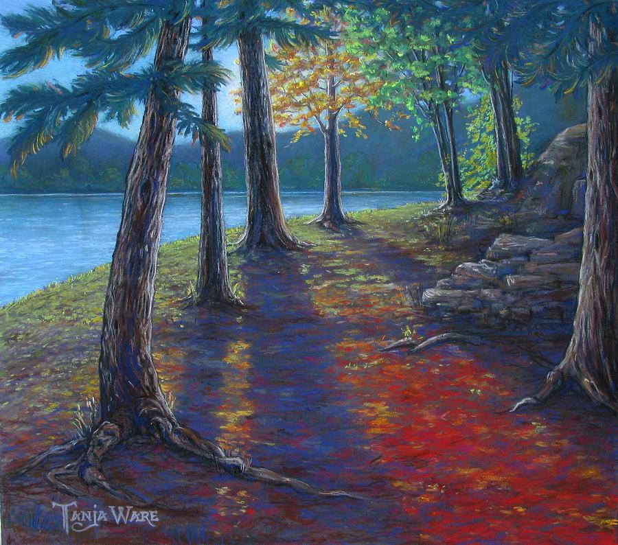 Landscape Painting - Fiery Fall Afternoon by Tanja Ware