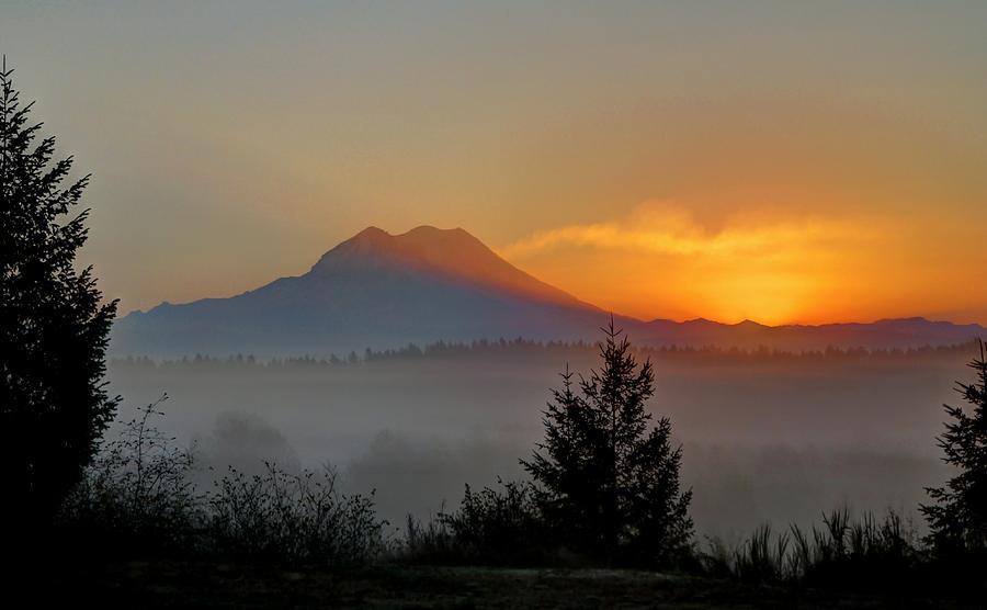 Fiery Fall Sunrise by Peter Mooyman