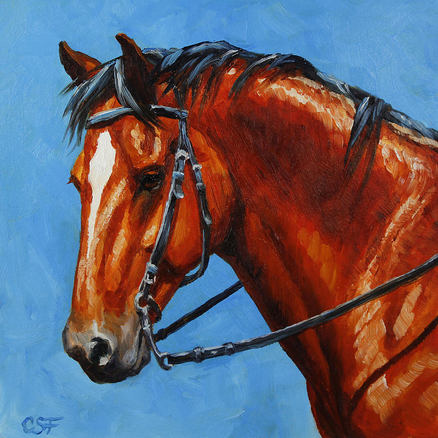 Horse Painting - Fiery Red Bay Horse by Crista Forest