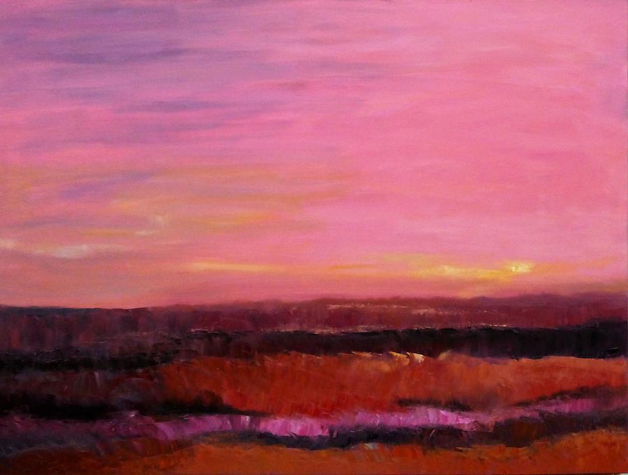 Sky Painting - Sold Fiery Sea by Irena Jablonski