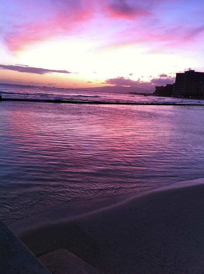 Purple Photograph - Fiery Sky by Erika Swartzkopf