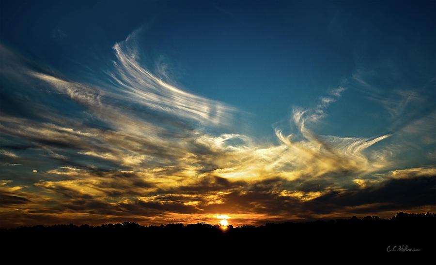 Sunset Photograph - Fiery Sunset by Christopher Holmes