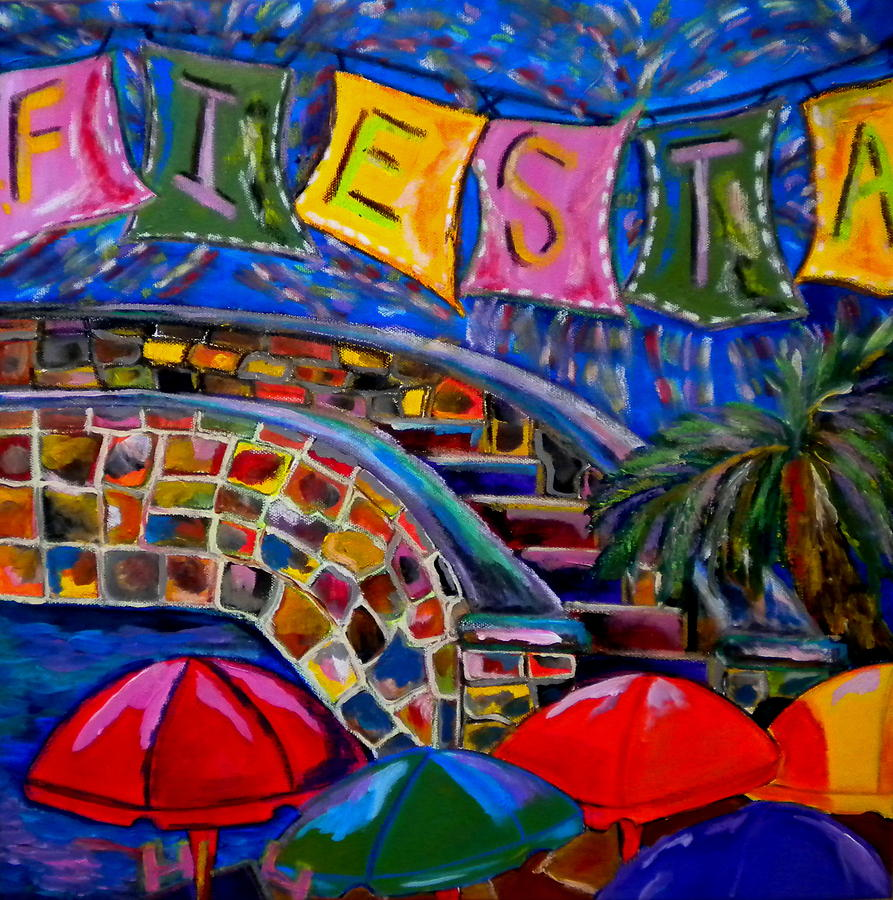 San Antonio Painting - Fiesta by Patti Schermerhorn