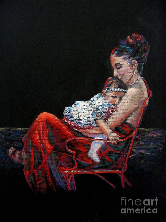 Mother Painting - Fiesta Siesta by Shirley Leswick