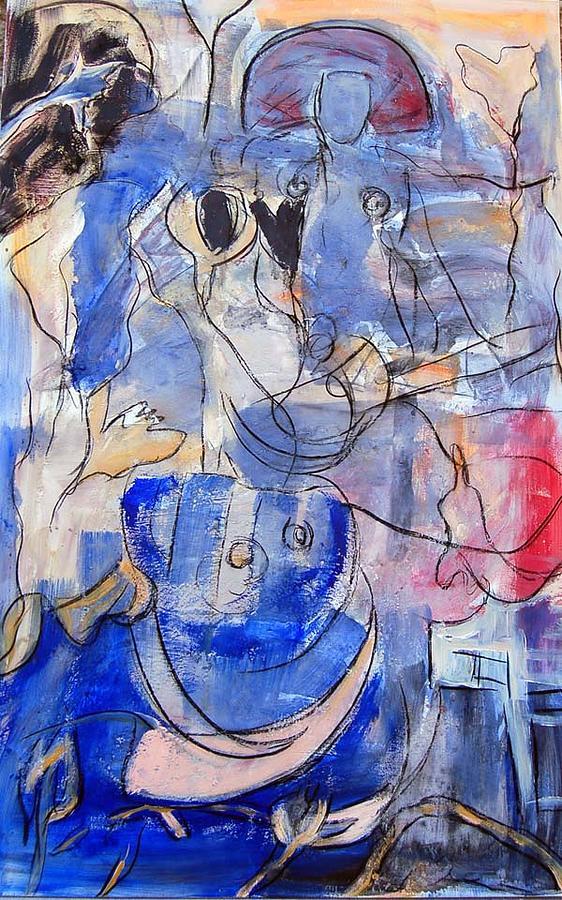 Fiesta Painting by Soledad  Fernandez