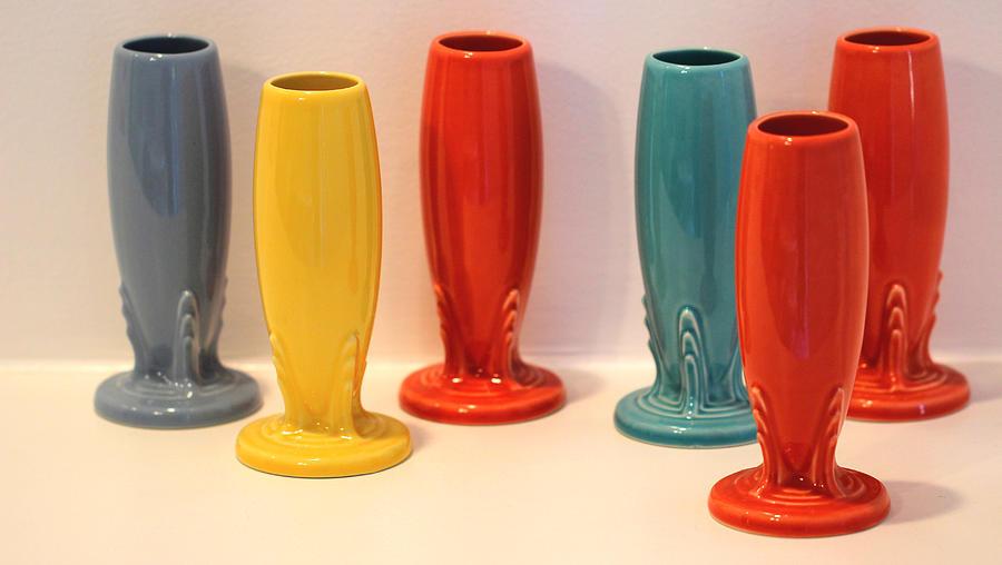 Fiestaware Bud Vases Photograph By Joseph Skompski