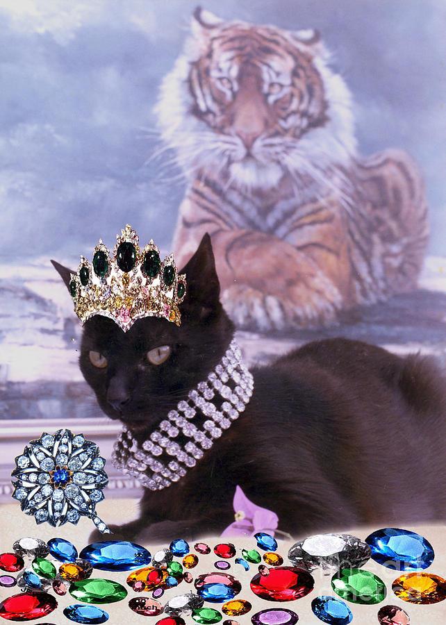 Rubies Photograph - Fifi Diamonds Are A Kitten Best Friends by Silvia  Duran