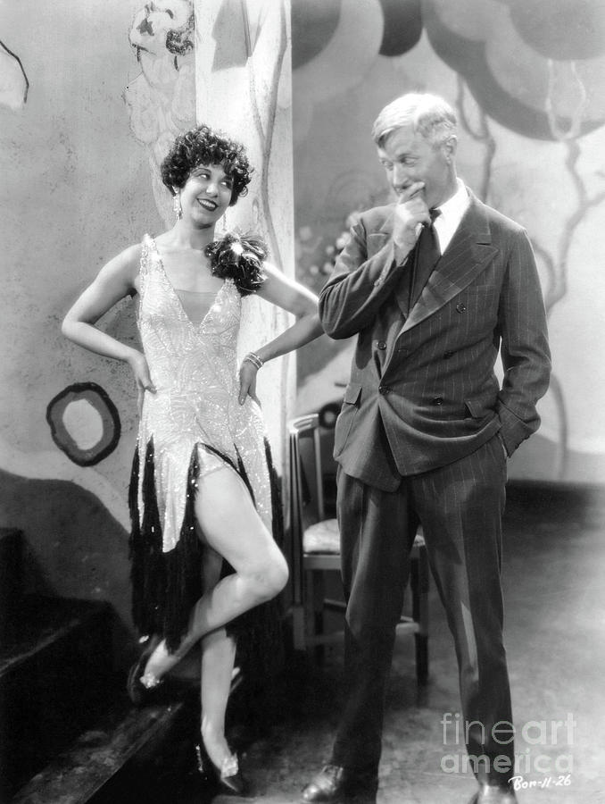 Will Rogers Photograph - Fifi DOrsay - Will Rogers - They Had to See Paris 1929 by Sad Hill - Bizarre Los Angeles Archive