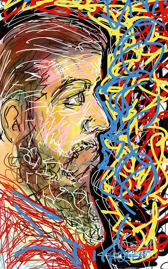 Beard Digital Art - Fifteen Minute Beard by Robert Yaeger