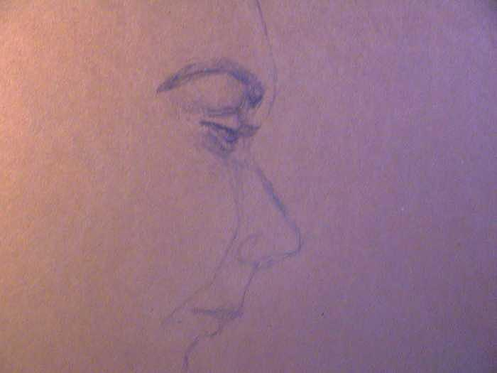fifteen minute sketch of Andrew Drawing by Neil Grotzinger