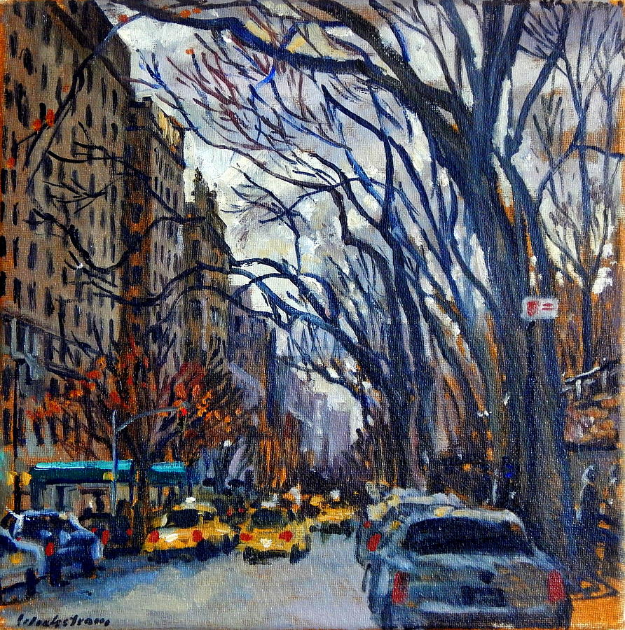 Oil Painting - Fifth Avenue in November by Thor Wickstrom