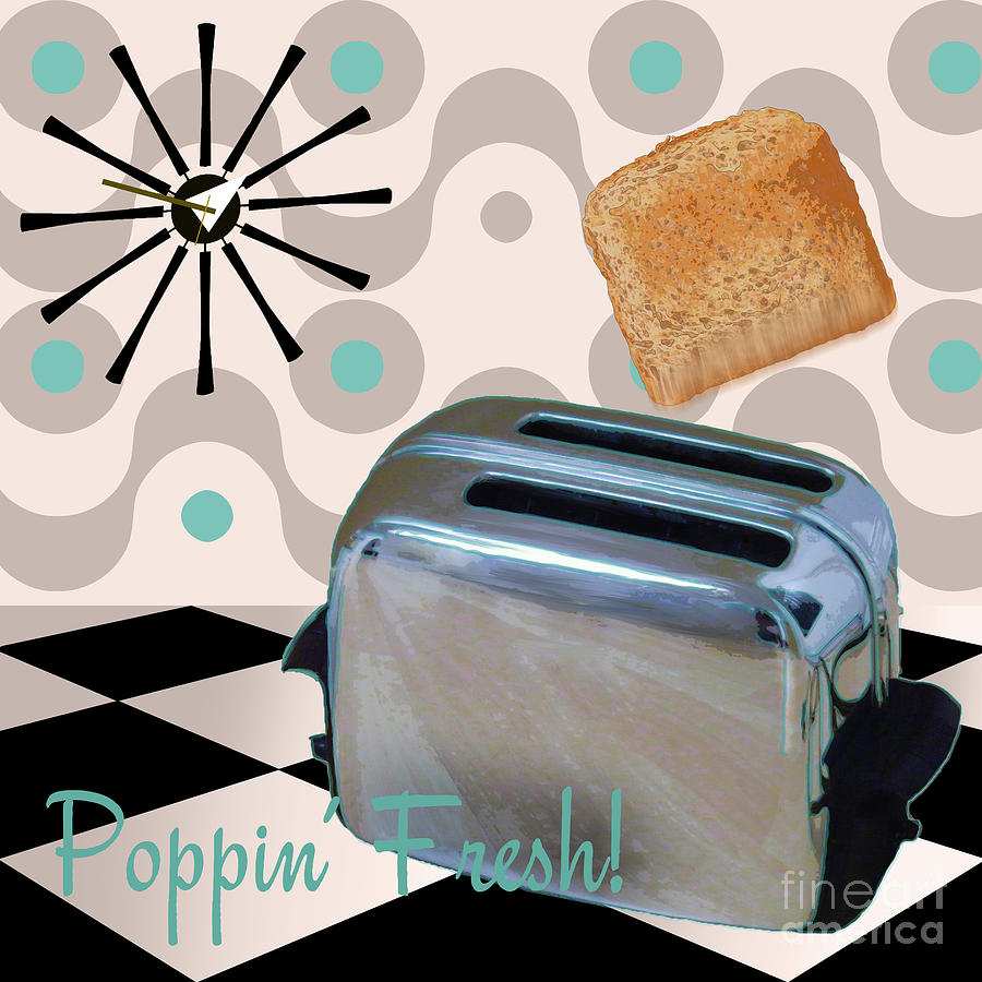 Fifties Painting - Fifties Kitchen Toaster by Mindy Sommers