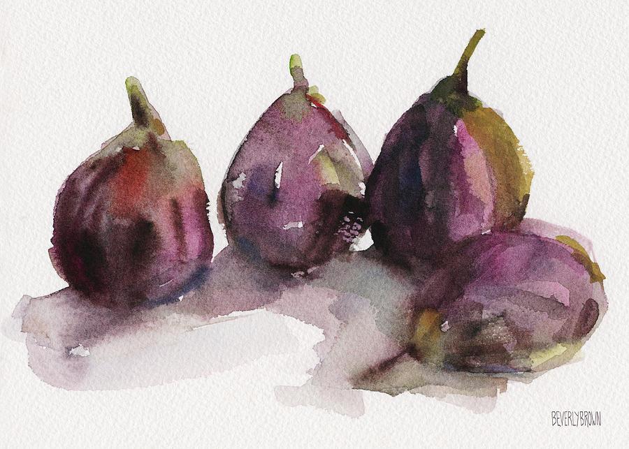 Purple Painting - Fig Season by Beverly Brown