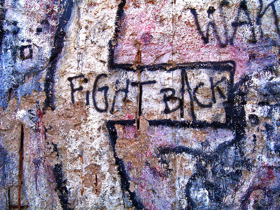 Germany Photograph - Fight Back - Berlin Wall by Juergen Weiss