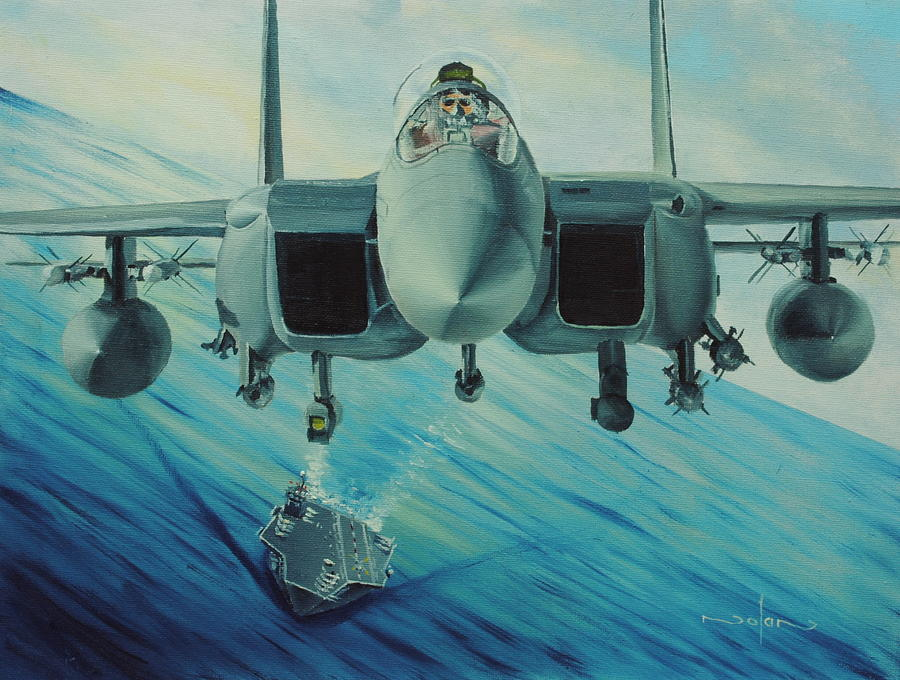 Oil Painting - Fighter Jet by Nolan Clark