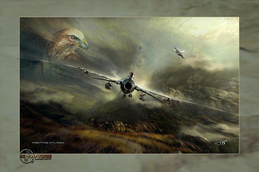 War Digital Art - Fighting Falcon by Peter Van Stigt
