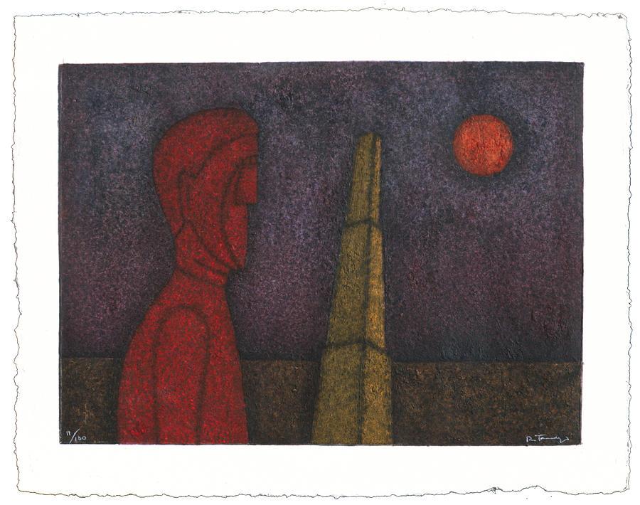 Figura En Rojo Print by Rufino Tamayo