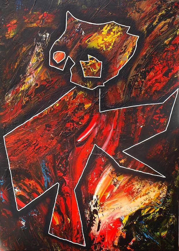Abstract Painting - Figurative 2 by Morten Gaarden