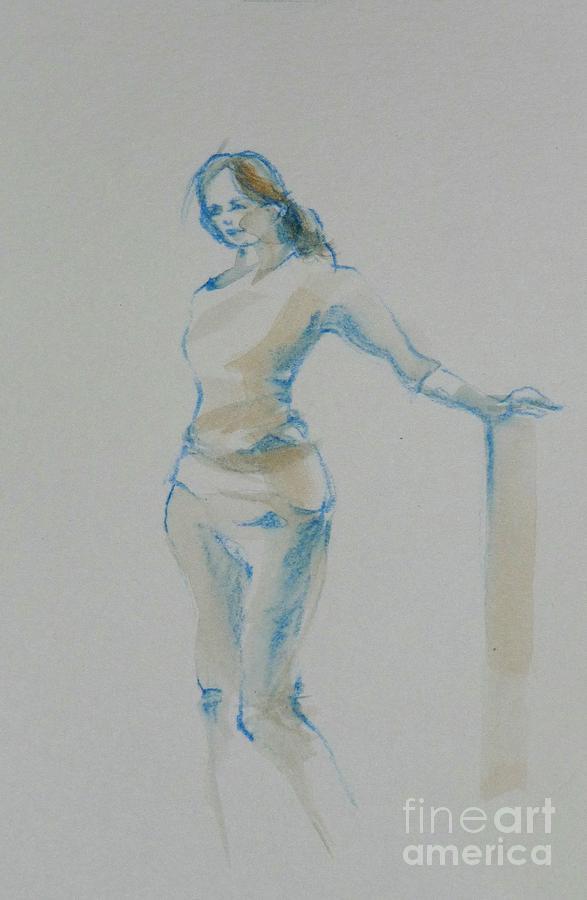 Figure Drawing by CHERYL EMERSON ADAMS
