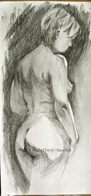 Figure Drawing.2. Drawing by SJV Jeffery-Swailes