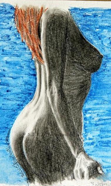 Figure Drawing.3. Mixed Media by SJV Jeffery-Swailes