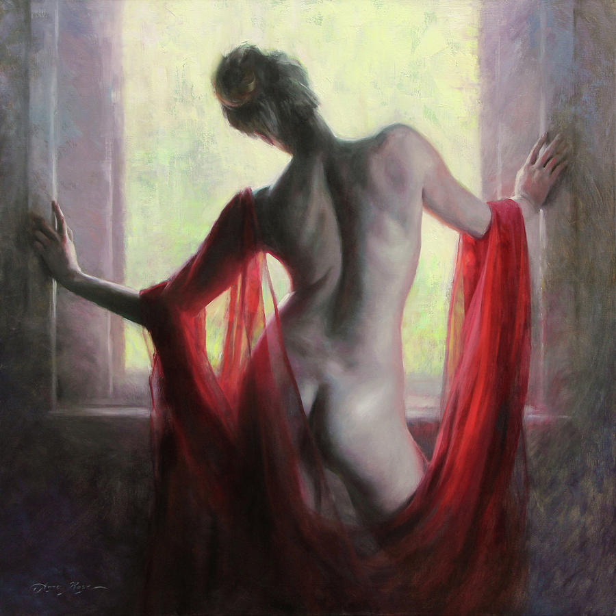 Figure Painting - Figure in Red by Anna Rose Bain