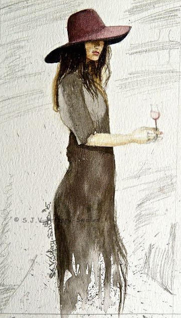 Figure Sketch.5. Painting by SJV Jeffery-Swailes
