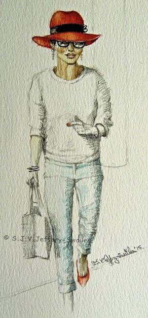 Figure Sketch.6. Painting by SJV Jeffery-Swailes