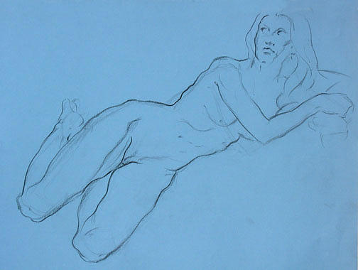 Drawing Drawing - figure study Brooke by Tom Durham