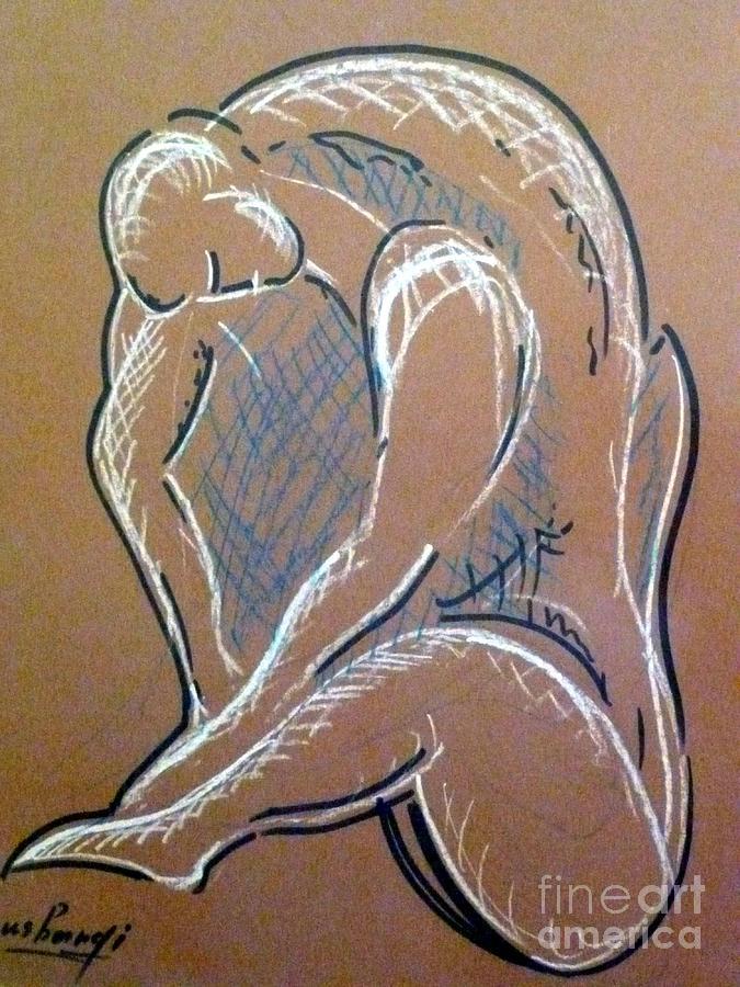 Figure Painting - Figure by Ushangi Kumelashvili