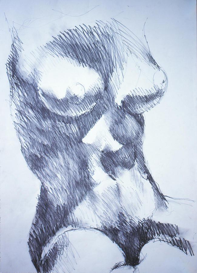 Figure Drawing Drawing - Figure12 by Jeffrey Babine