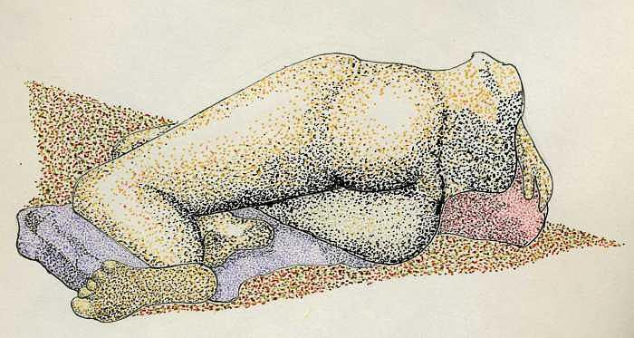 Pointillism Drawing - Figure2.5 by M Brandl