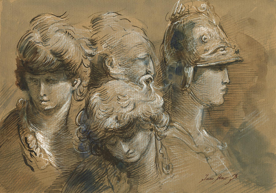 David Painting - Figures drawing by Juan Bosco