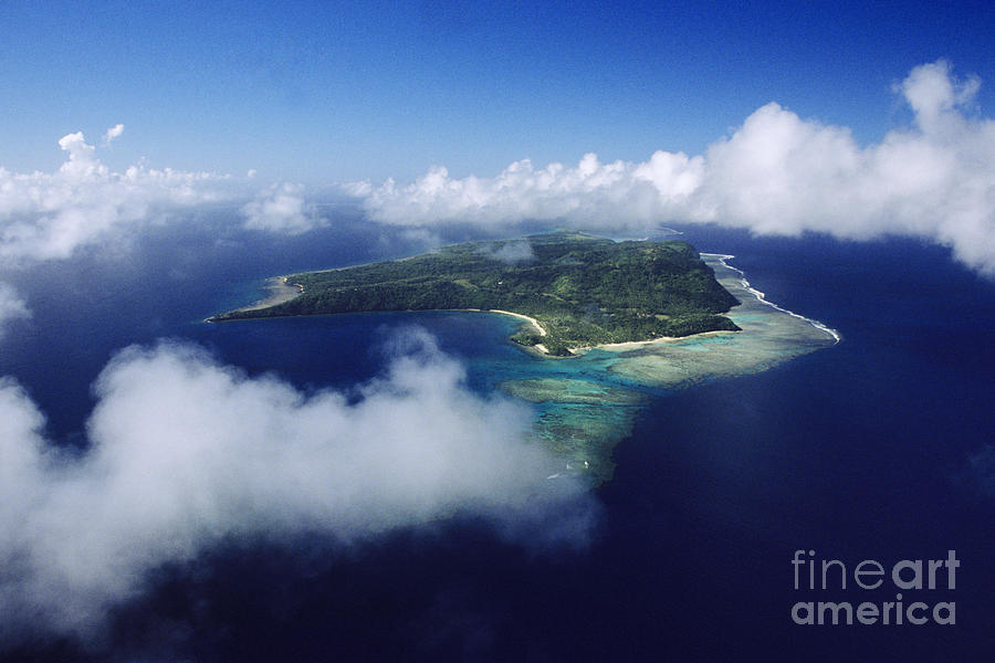 Aerial Photograph - Fiji Aerial by Larry Dale Gordon - Printscapes